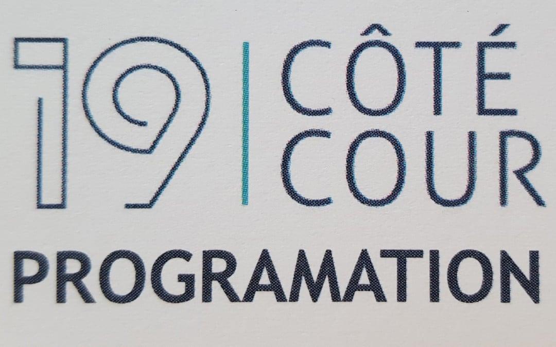 19 Côté Cour Programmation 2ème Trimestre 2016